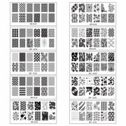 Nail plates bundle monster extra large full nail art design retangular xl stamping plates prinsesfo Image collections