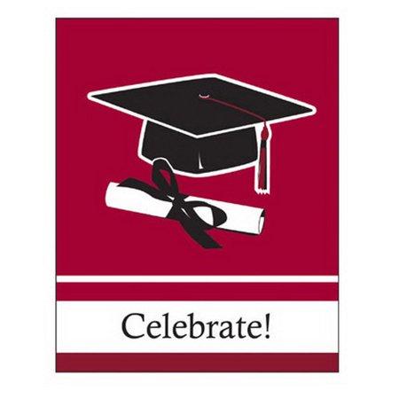 BURGUNDY GRAD INVITE - Grad Invites