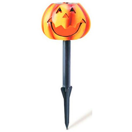 Southwire/Coleman Cable 96888 Halloween LED Solar Stake Light, Pumpkin, Battery-Operated (Easy Halloween Pumpkin)