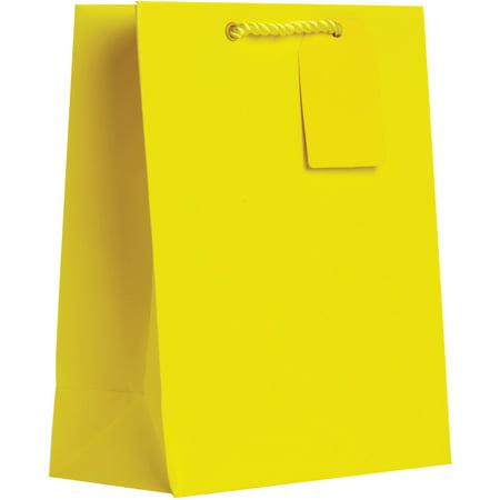 Jillson & Roberts Medium Gift Bags, Solid Matte Yellow (60 Pcs)