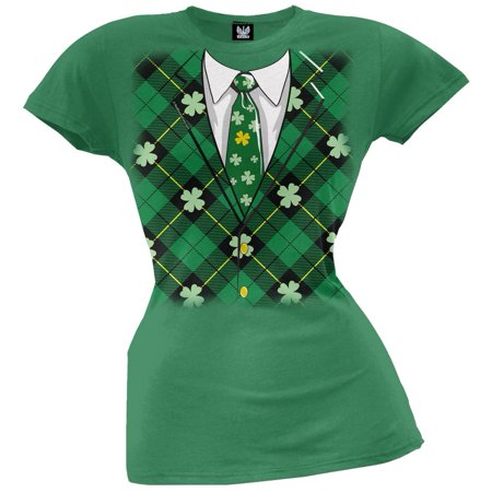 St. Patricks Day - Irish Leprechaun Costume Juniors T-Shirt
