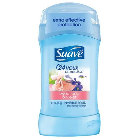 Suave Sweet Pea and Violet Antiperspirant Deodorant, 1.4 oz