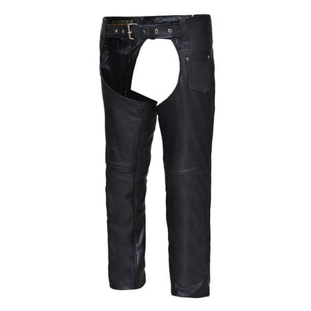 Unisex Naked Leather Coin Pocket Motorcycle Chaps](Naked Suit)