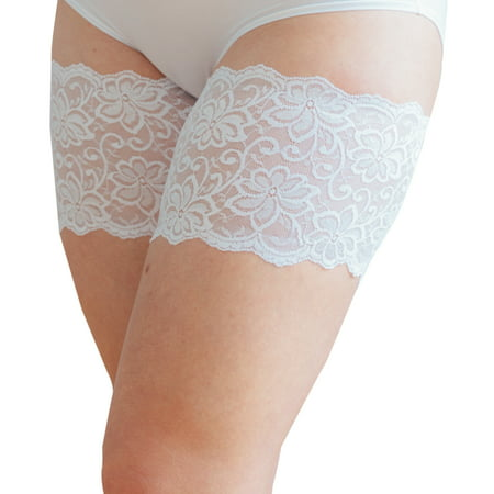 Bandelettes Thigh Bands - White Dolce B - Opaque White Thigh Highs