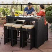 Best Choice Products 7 Piece Outdoor Rattan Wicker Bar Dining Patio Furniture Set W