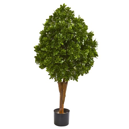 """- Nearly Natural 41"""" Tea Leaf Artificial Tree UV Resistant (Indoor/Outdoor)"""