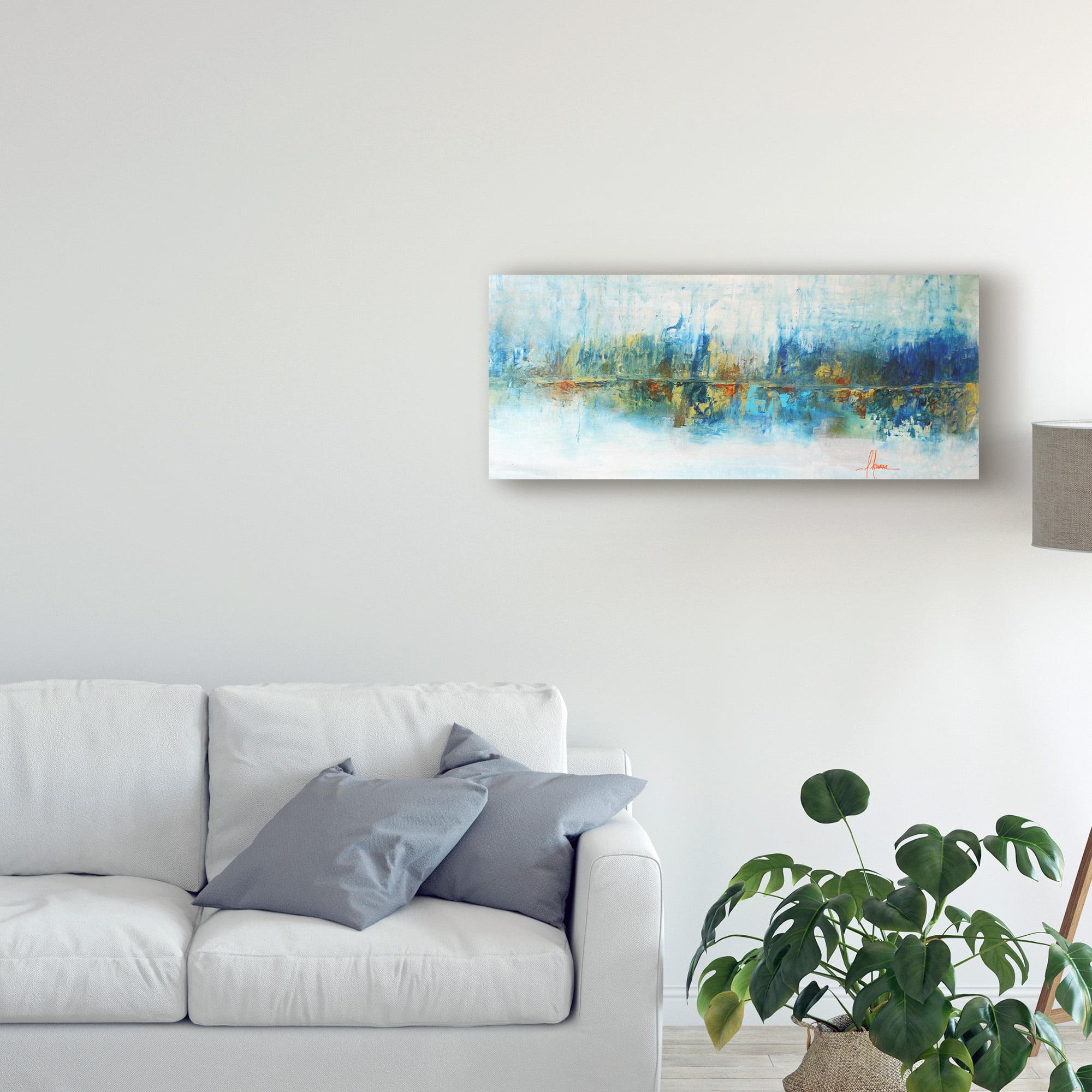 Giclee Canvas Wall Art /'Aqua Azul/' by Leticia Herrera