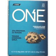 ONE Chocolate Chip Cookie Dough Protein Bar, 2.12 Oz., 4 Count