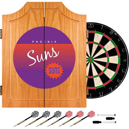 Phoenix Suns Hardwood Classics NBA Wood Dart Cabinet by