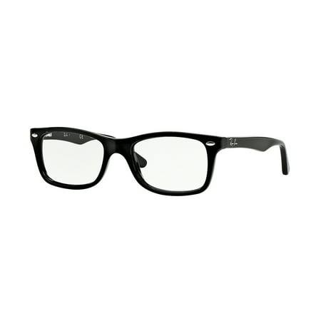 4f04d0ff6f Ray-Ban Optical 0RX5228 Square Eyeglasses for Womens - Size - 50 (Shiny  Black) - Walmart.com