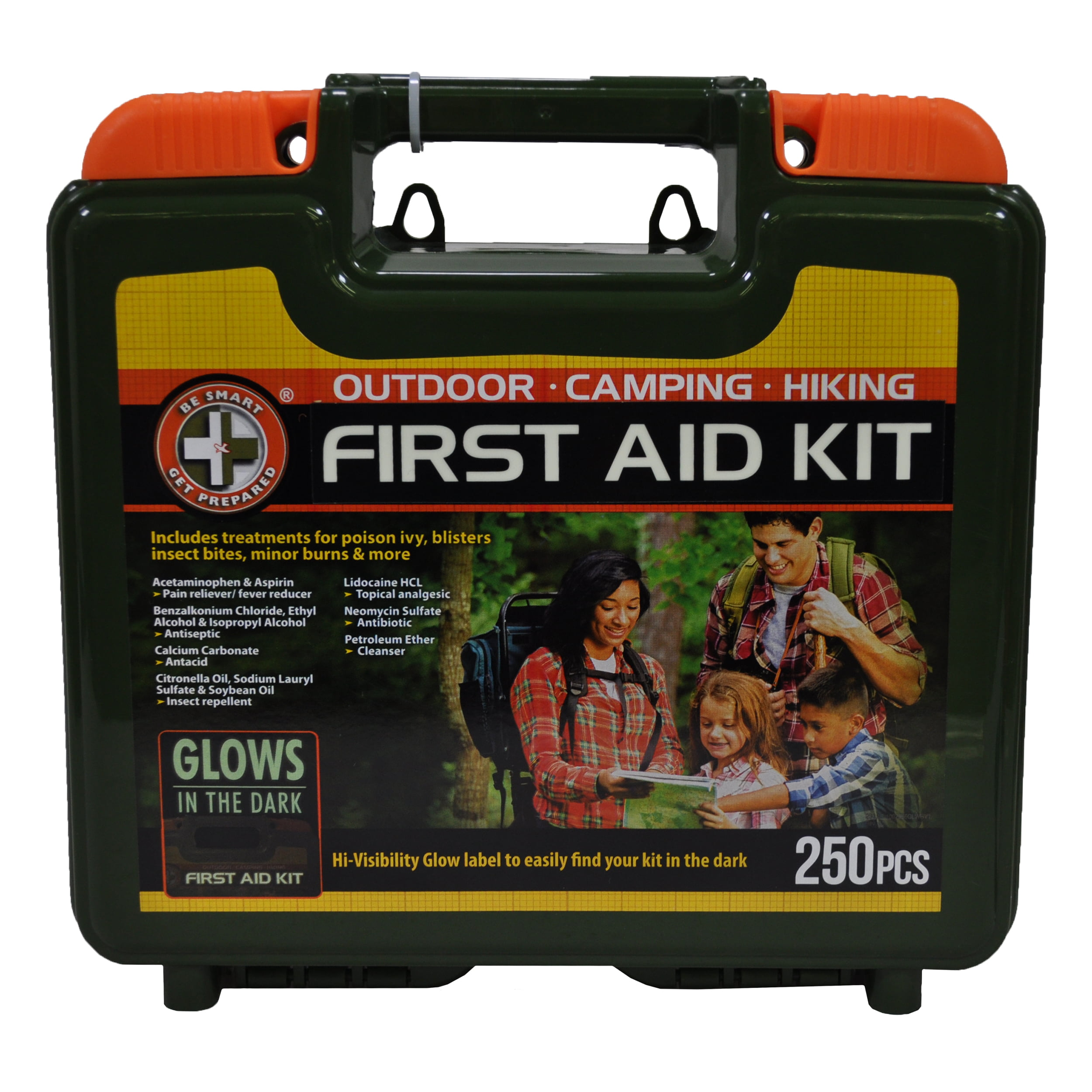 Be Smart Get Prepared First Aid Kit 250 Piece by Be Smart Get Prepared