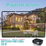 "120""/100""/84""/72""/60"" Fabric Cloth Screen Projector Portable Movie Display Reflective LED"
