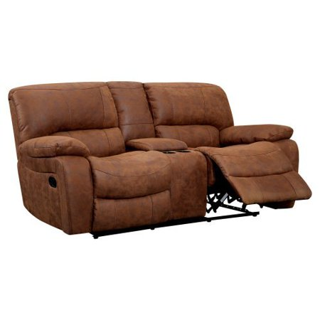 Furniture of america lafrance recliner loveseat with center console Reclining loveseat with center console