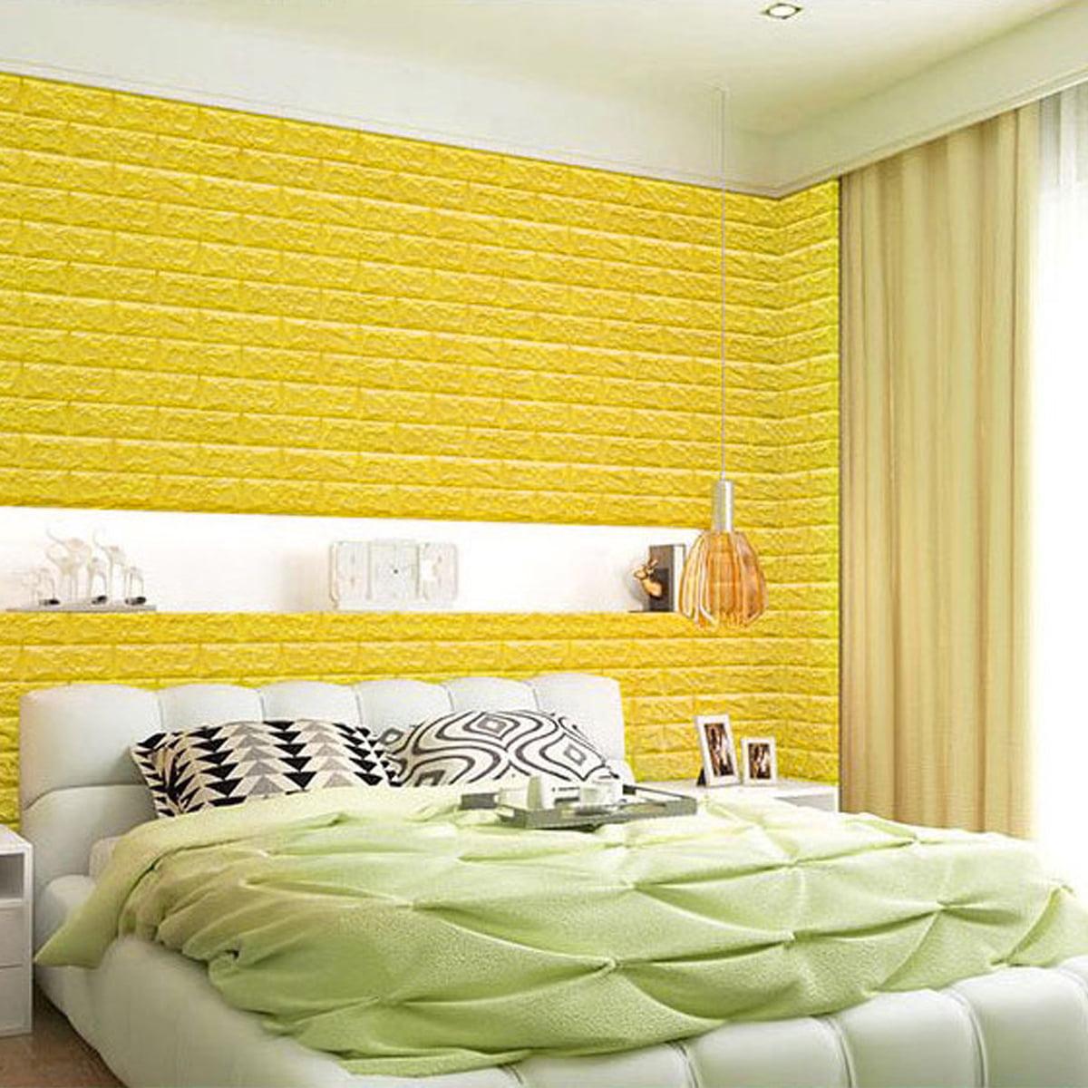 10 Pcs 3D Wallpaper Waterproof Large Tile Brick Wall