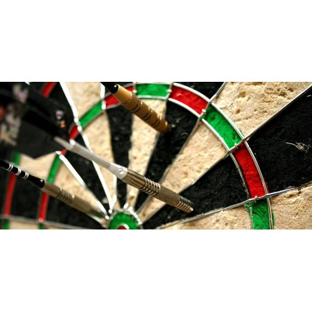 LAMINATED POSTER Target Accuracy Darts Aim Skill Dart Board Game