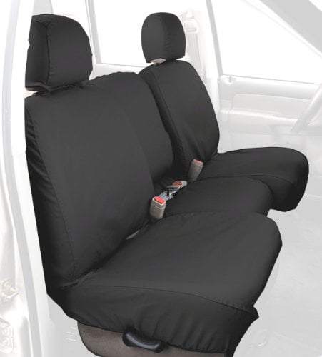 Covercraft Custom-Fit Front Bucket SeatSaver Seat Covers Polycotton Fabric Charcoal Black