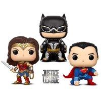Warp Gadgets Bundle - Funko Pop Movies Dc Justice League - Batman, Wonder Woman, and Superman - Collectible Vinyl Figure (3 Items)