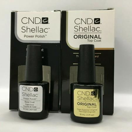 CND Shellac Original Top Coat and Base Coat LARGE