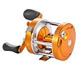 Baitcaster Reel with Oversized Handle Golden Right Hand - image 8 de 8