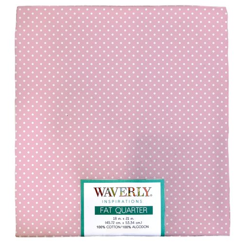 "Waverly Inspiration PINDOT CARNATION Fat Quarter 100% Cotton, Pindot Print Fabric, Quilting Fabric, Craft fabric, 18"" by 21"", 140 GSM"