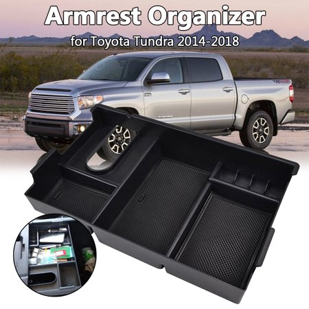 Car Armrest Storage Box Center Console Organizer Tray For Toyota Tundra 2014-18 - image 9 of 9