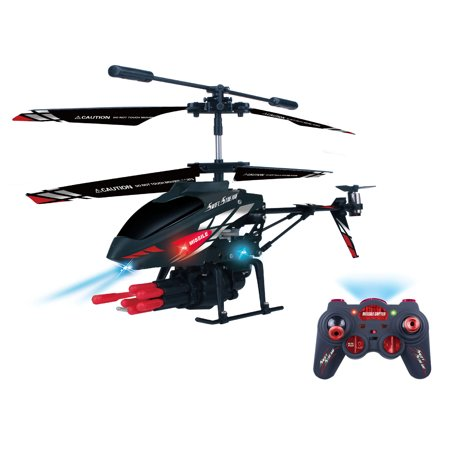 Swift Stream Remote Control 9 inch Missile Launching Helicopter (22 Inch Rc Helicopter)