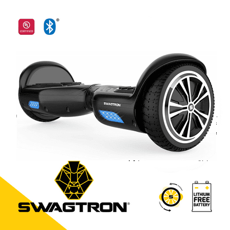 SWAGTRON Swagboard Twist Lithium-Free UL2272 Certified Hoverboard with Startup Balancing, Dual 250W Motors, Patented SentryShield Quantum Battery