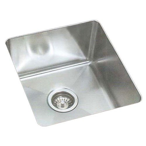 Sheffield 16.25''  Single Bowl Undermount Kitchen Sink with Creased Drain Area in Brushed Satin