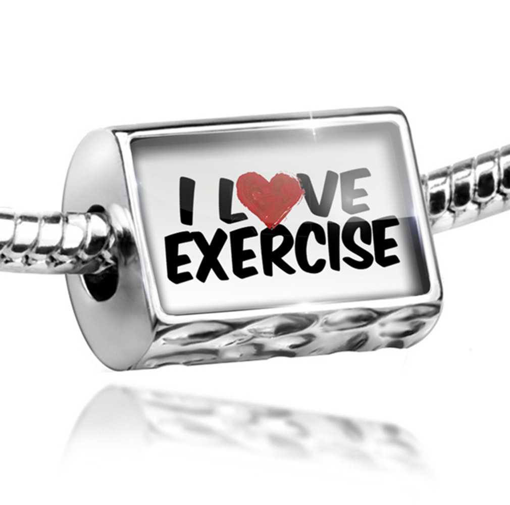 Bead I Love Exercise Charm Fits All European Bracelets