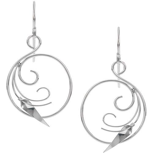 Brinley Co. Women's Sterling Silver Swirled Dangle Earrings