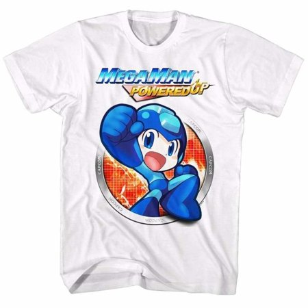 Mega Man Gaming Powered Up Adult Short Sleeve T - Gaming Costumes