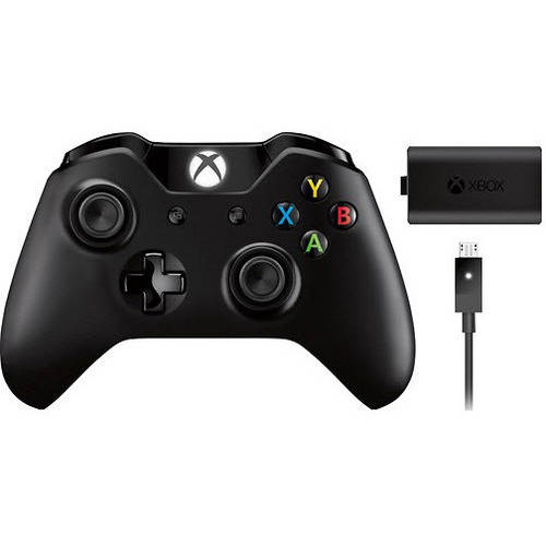 Microsoft Xbox One Wireless Controller with Play and Charge Kit (Xbox One)
