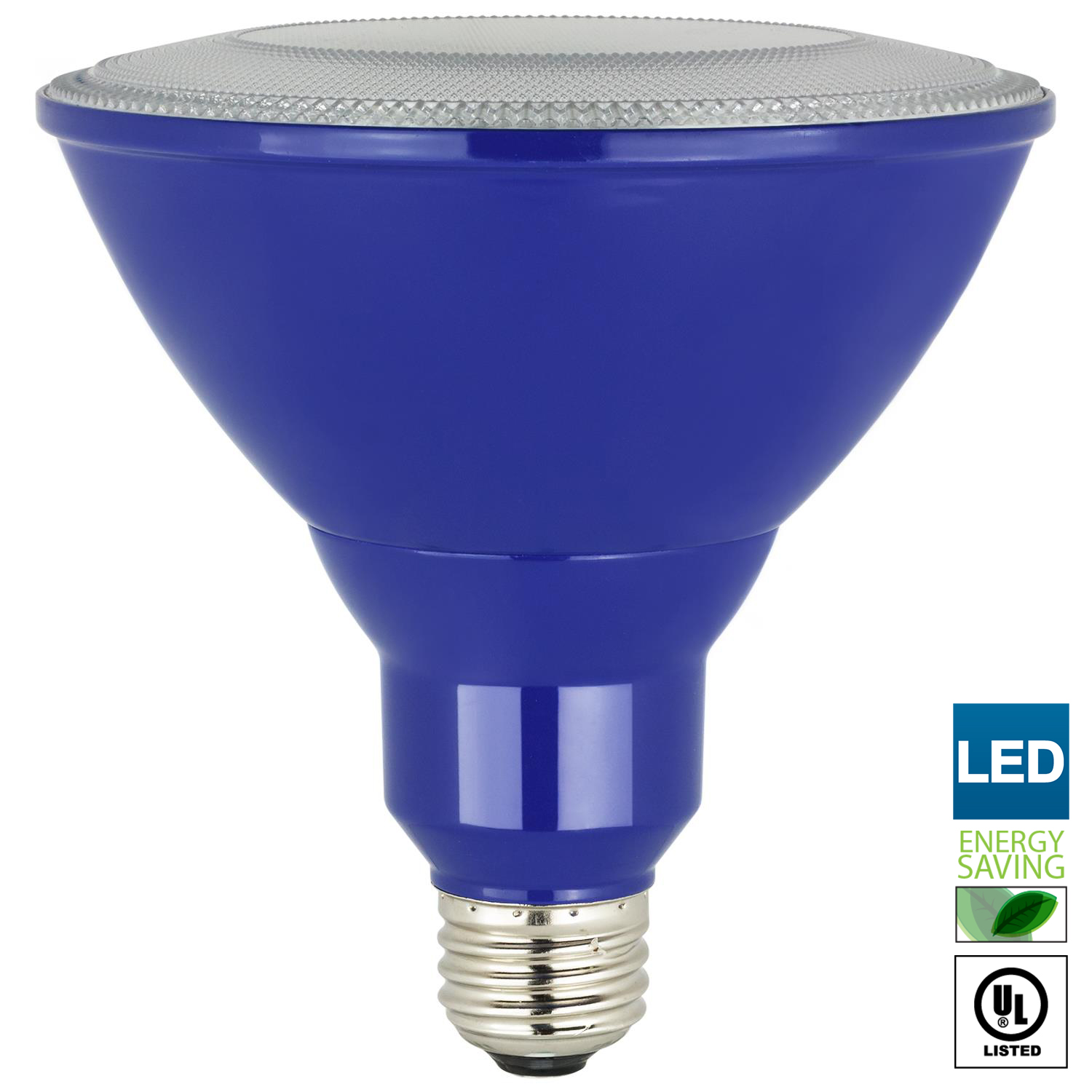 Sunlite LED PAR38 Blue Floodlight Bulb, 8W (25W Equivalent), Medium (E26) Base, Indoor, Outdoor, Wet Location, 25,000 Hour Lifespan, UL Listed