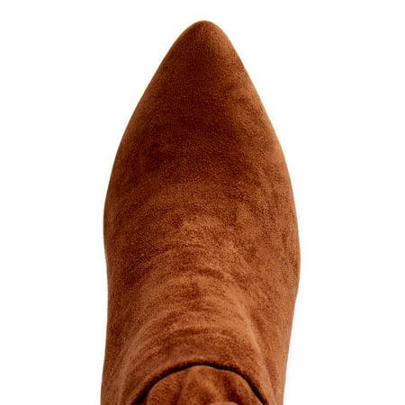 Scoop Women's Blair Scrunch Stiletto Heeled Booties