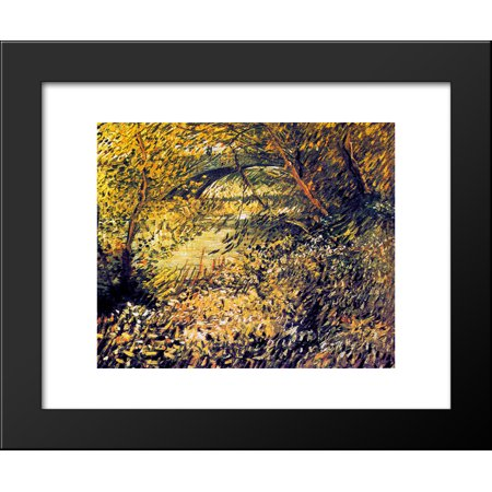 Banks Of The Seine In The Spring 20X24 Framed Art Print By Vincent Van Gogh
