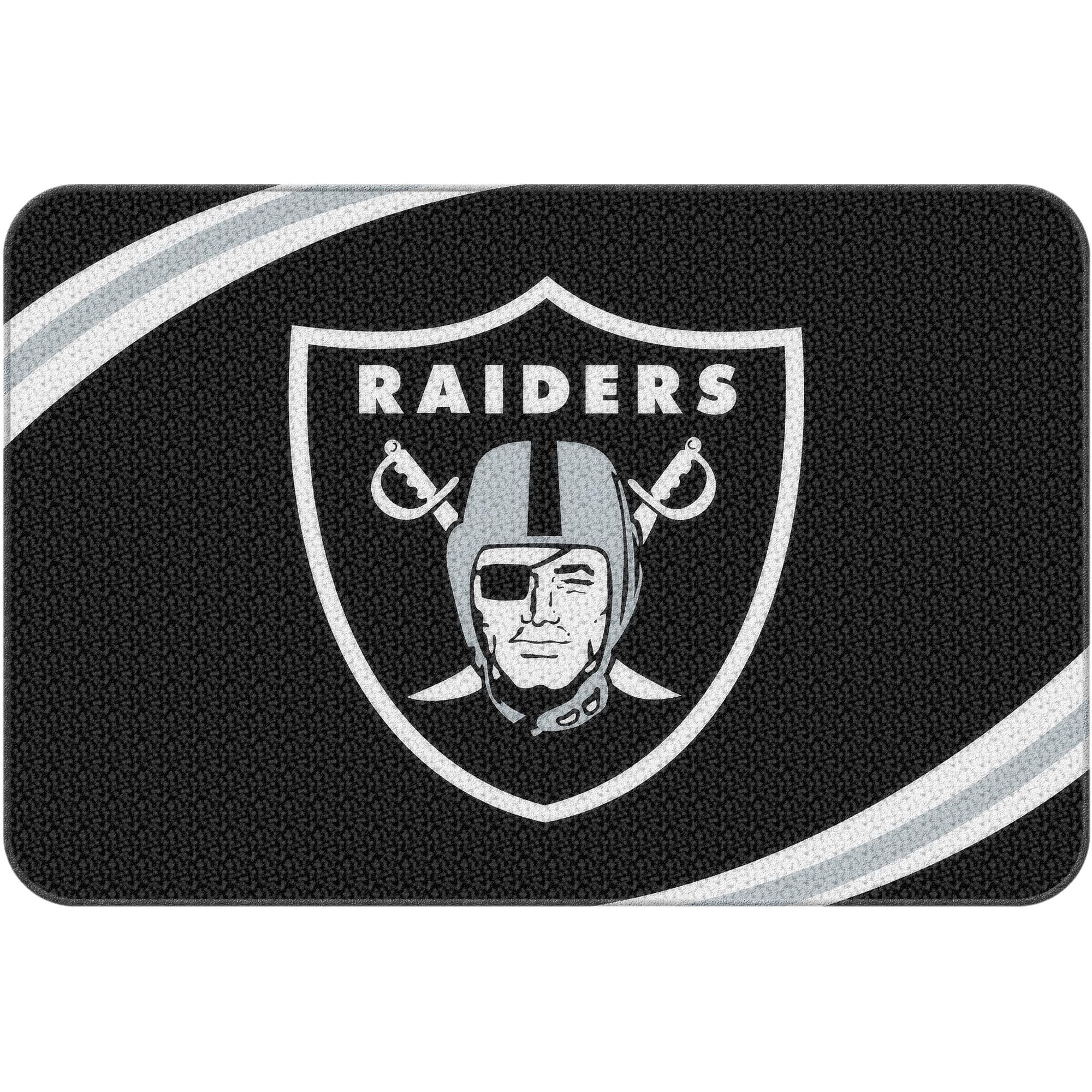 . NFL Oakland Raiders 20  x 30  Round Edge Bath Rug   Walmart com