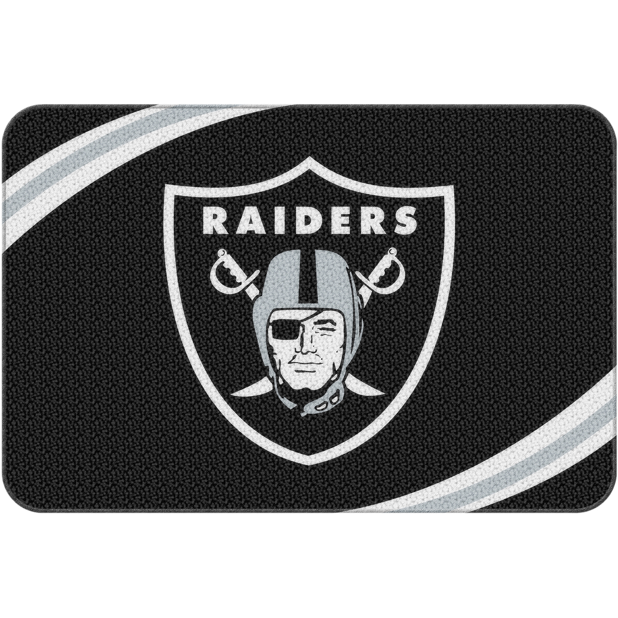 "NFL Oakland Raiders 20"" x 30"" Round Edge Bath Rug"