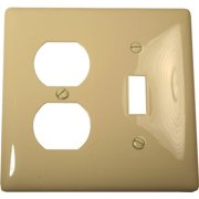 WALLPLATE MIDI 2 GANG DUPLEX/TOGGLE WHITE per 38 Each