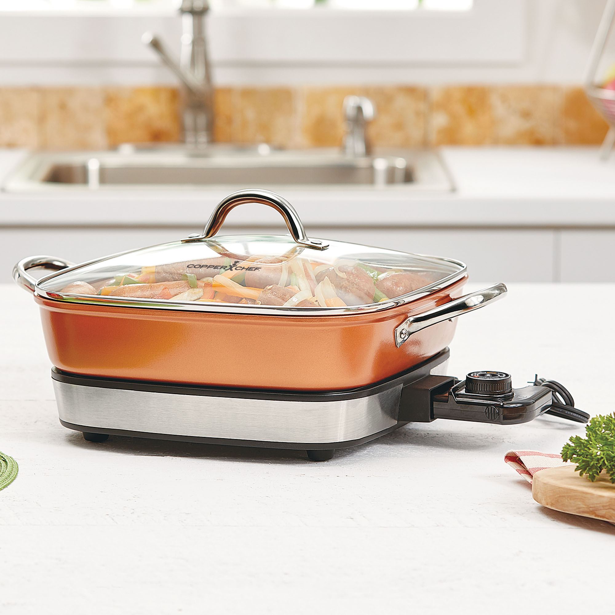 Copper Chef 12 Removable Electric Skillet Walmart Com