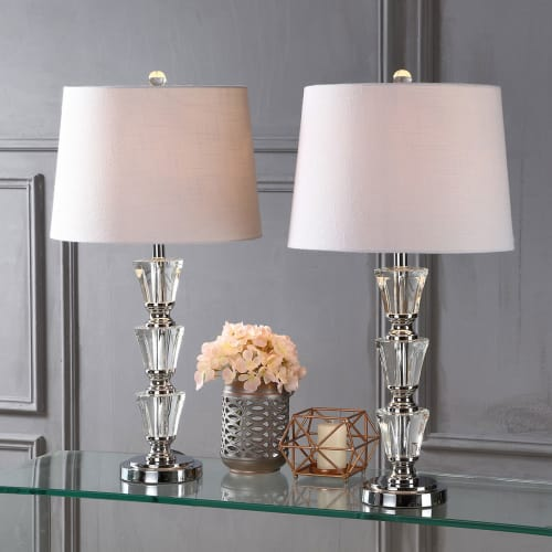 Layla 27 Quot Crystal Led Table Lamp Clear Set Of 2