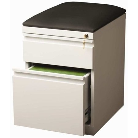 Pemberly Row 2 Drawer Faux Leather Top File Cabinet in -