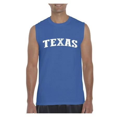 Texas State Flag Men Ultra Cotton Sleeveless T-Shirt
