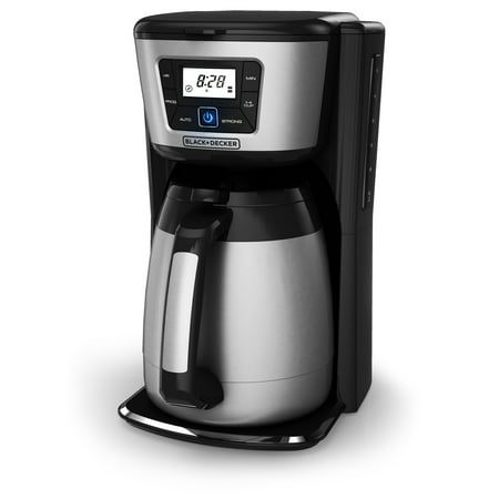 BLACK+DECKER 12-Cup* Thermal Coffeemaker, Black/Stainless Steel,