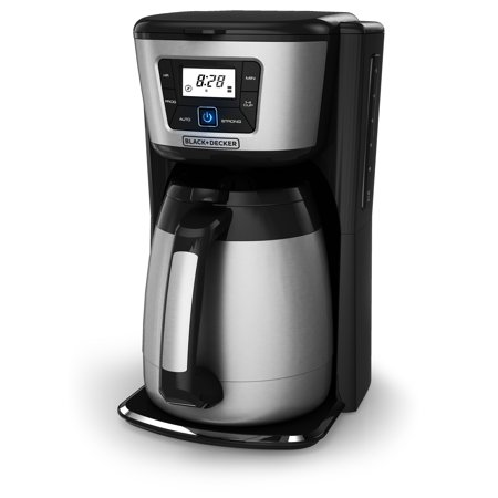 BLACK+DECKER 12-Cup* Thermal Coffeemaker, Black/Stainless Steel, CM2035B (Metal Coffee Pot)