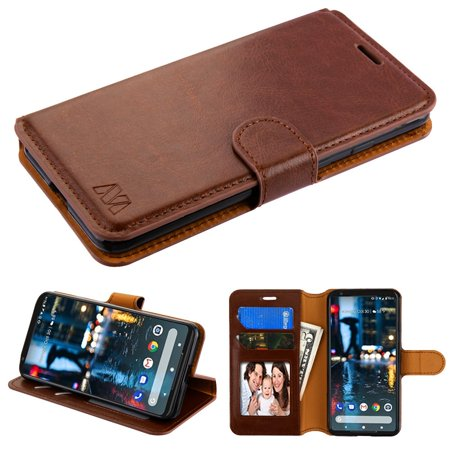 timeless design 1135f 0e113 Kaleidio Case For Google Pixel 3 [MyJacket] PU Leather Hybrid Wallet [Card  Slot][Stand Feature] Flip Folio Cover w/ Overbrawn Prying Tool [Brown]
