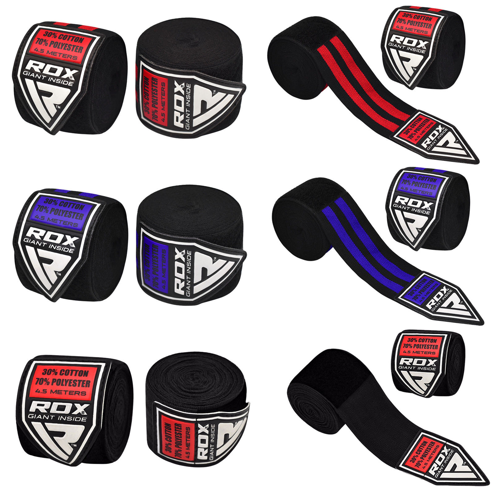 RDX 4.5 m Adult Hand Wraps MMA Boxing Inner Gloves Training Wrist HWP-1B