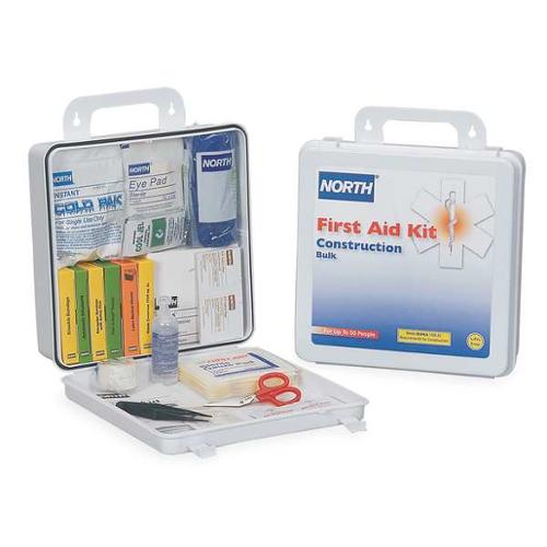 NORTH BY HONEYWELL 019744-0031L First Aid Kit, Bulk, White, 177 Pcs, 50 Ppl