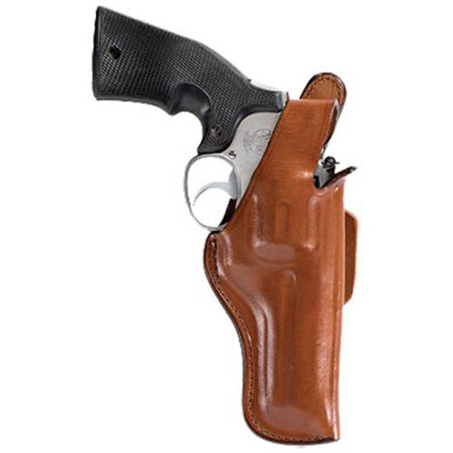 """Bianchi 10136 Thumbsnap Belt Holster, 5BH, Fits Belt Width 1.75"""" and 2.25"""", Tan Leather"""
