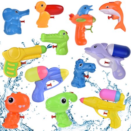 Fun Little Toys Baby Bath Toys Water Gun Super Soaker Blaster Outdoor Play Summer Outdoor Toys for Toddlers ;Pool Blaster Party Favors Animals Toys 12Pcs F-200 - Pool Decorations