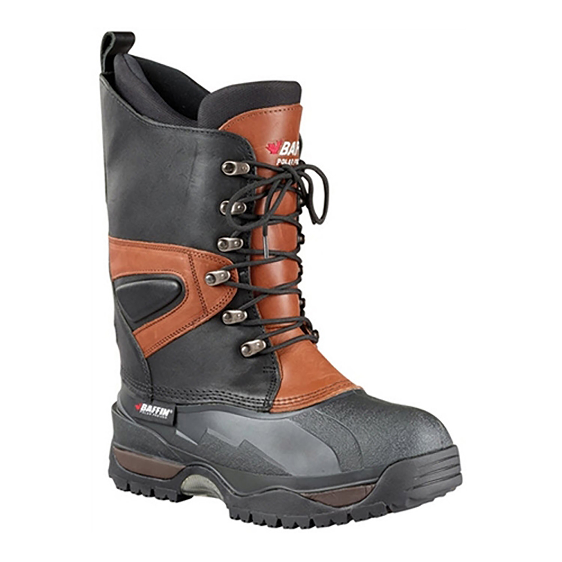 BAFFIN APEX LEATHER BOOT (11) BLACK/BARK